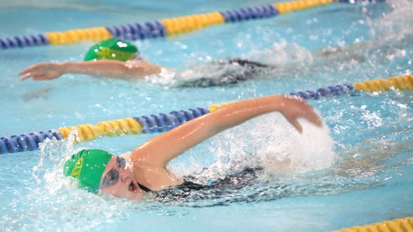 Reynolds was the third-place girls team at Friday's Buncombe County High School Championship swim meet in Skyland.