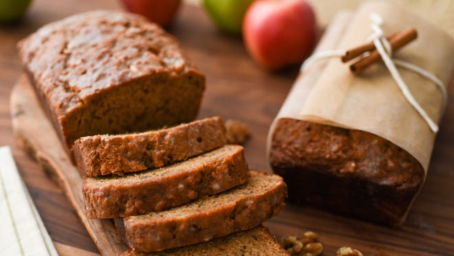 Apple Walnut Bread is fiber-rich.