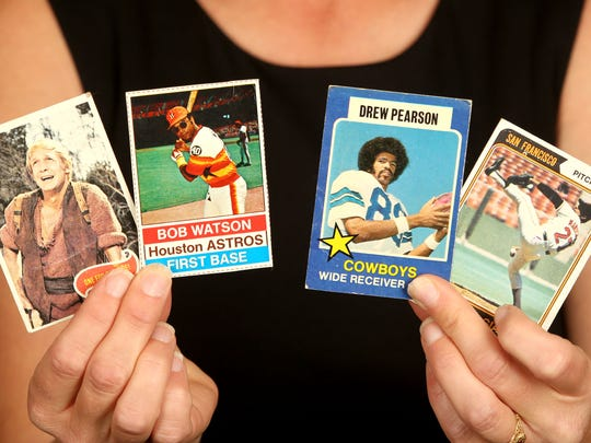 The trading cards Becky Willhite discovered in four