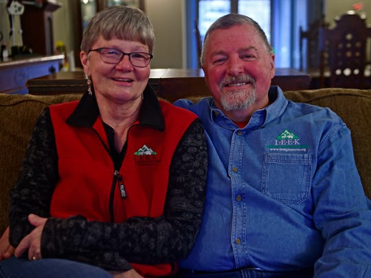 LEEK founders Kate and Ed Fisher in their home in Fairview