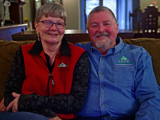 LEEK founders Kate and Ed Fisher in their home in Fairview Township.