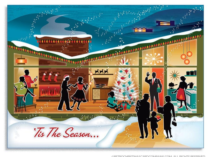 nostalgic cards make it a mid century modern christmas