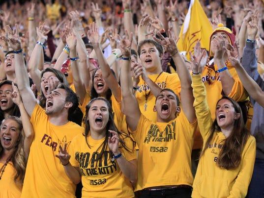 ASU fans cheer on their team