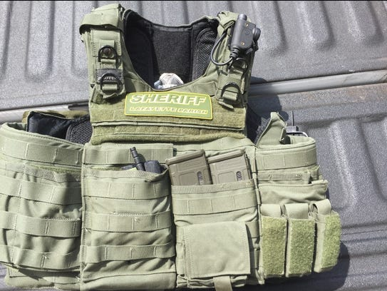 A ballistic vest similar to this was stolen Friday