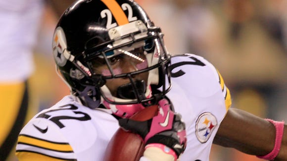 Pittsburgh Steelers running back Chris Rainey  in action against the Cincinnati Bengals in an NFL football game, Sunday, Oct. 21, 2012, in Cincinnati. (AP Photo/Al Behrman)