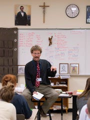 Larry Mattingly, a social studies teacher of 32 years,