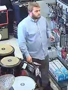 Lafayette Police believe this man stole a guitar worth $1,000.