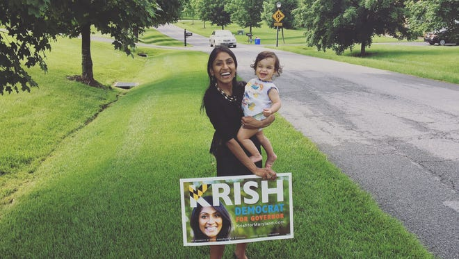 Democrat Krish Vignarajah is the only woman who filed to run for Maryland governor this year.