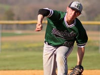 Zach Monninger of James Buchanan, shown pitching in an earlier game this spring, tossed a no-hitter Thursday in a 4-0 win over Big Spring.