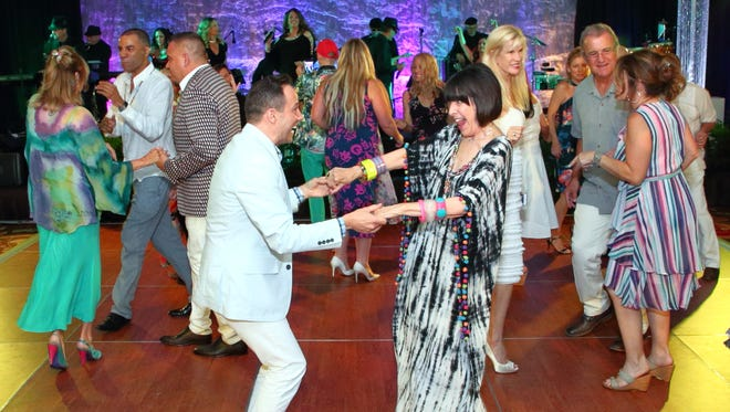 Center - Paul Clowers dancing with Susan Stein and the crowd