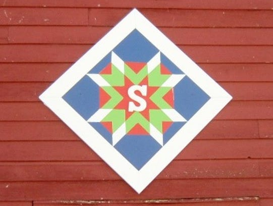 Geri Schwab's barn quilt in rural St. Joseph.