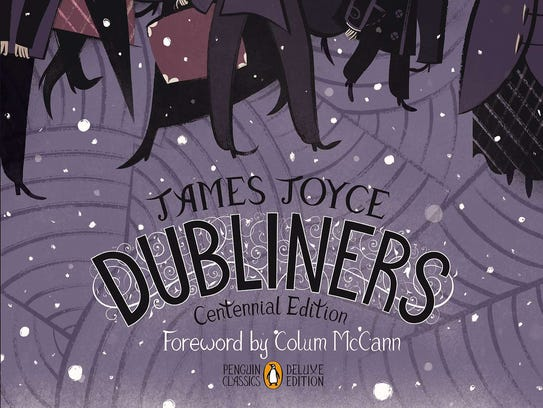 "The cover of the centennial edition of the book ""Dubliners"""
