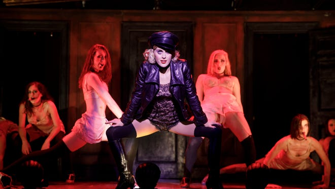 """Knoxville-born actress Bailey McCall Thomas, center, plays Sally Bowles in the 2018 touring production of """"Cabaret."""""""