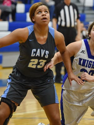 Junior forward Lawren Cook (23) has been a strong inside presence on Christ Church's back-to-back state championship teams.