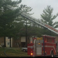 A fire at an apartment complex in Clarksville, Ind.