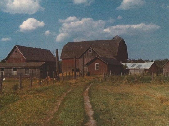 Mitchell Barns are seen in this circa 1965 photo, just before demolition.