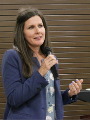PRCC's Terri Clark delivers remarks toward the end