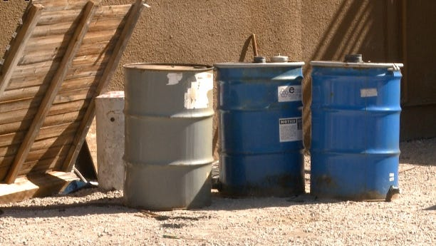 DENVER - The owner of a construction site believes someone snuck onto his construction site and illegally dumped these three barrels of hazardous waste on his property. Removing the barrels will cost him approximately $2,000.