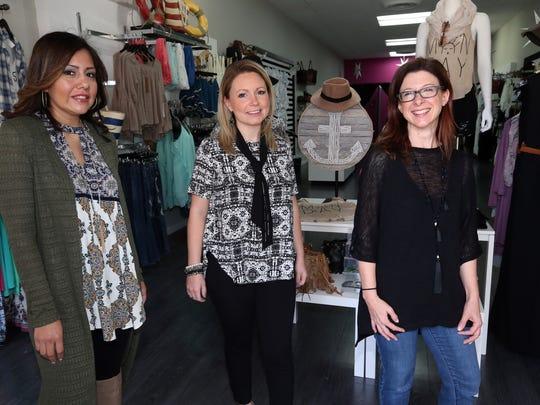 The Downtown Alliance of Somerville is planning a new event to draw people -- a 'Girls Night Out' event on May 12. Pictured in Beyond Trends are Lupe Spisso from Beyond Trends, (left)  Kristin Antonelli from K Bella Boutique (center)  and Beth Anne Macdonald, (right) executive director from the DSA.