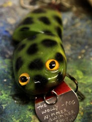 Musky lures, such as the Wolly-Pog designed by Greg
