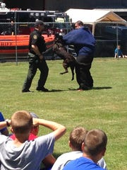 K9 unit at work. Sublimity Fire District will host its 10th Annual Public Safety Fair Saturday, June 4, at the main fire station and Early Settlers Park.