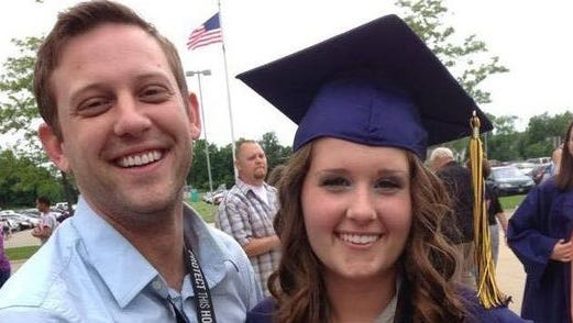 Benjamin Bashore, left, with sister Mariah Bashore at her high school graduation in 2013. Benjamin died Monday, June 20, 2016 in a car crash.