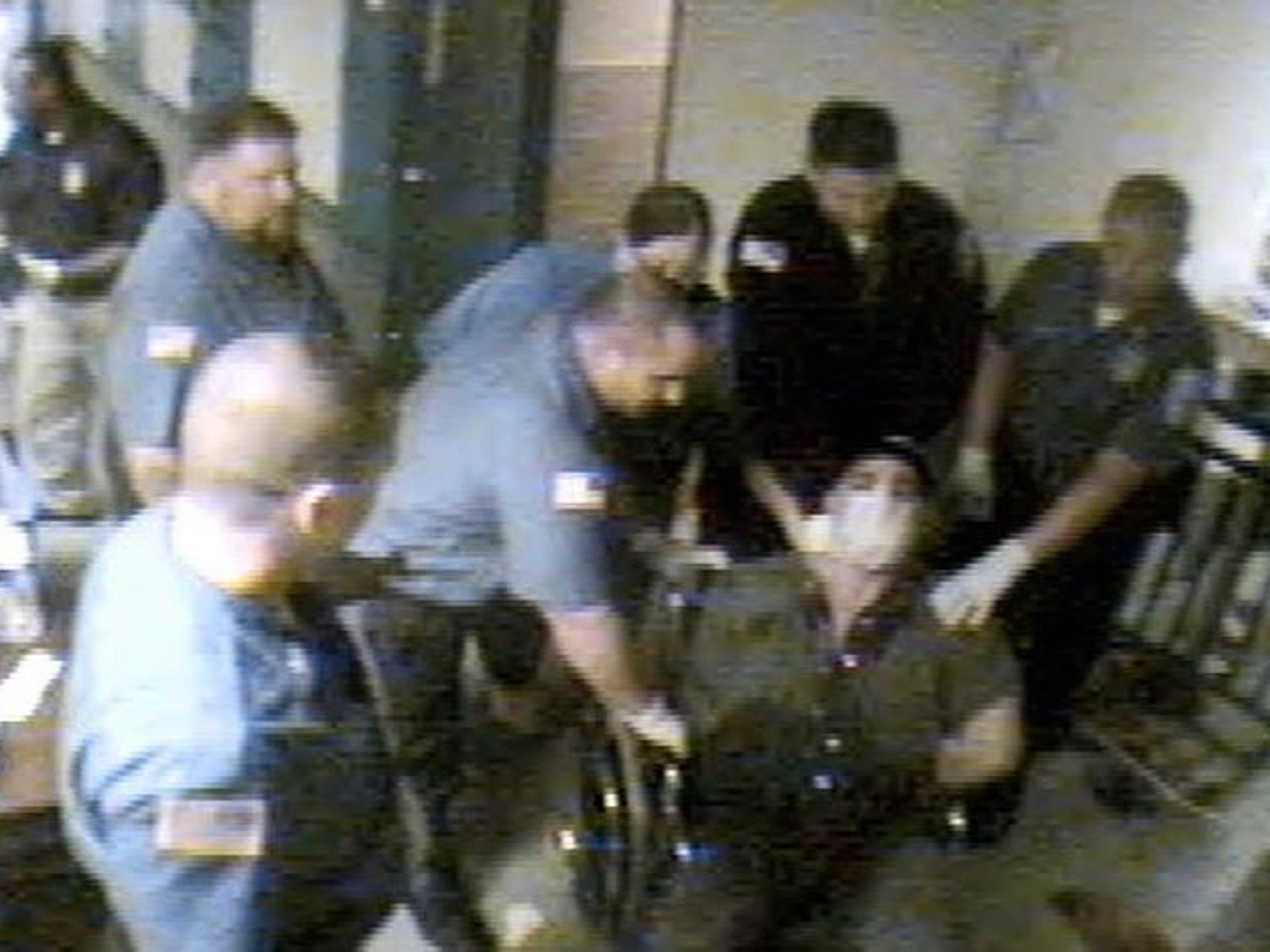 Corrections officers take Bornstein to the jail's medical unit in a wheelchair after a struggle.