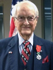 Johnnie Mac Walters with his Legion of Honor medal