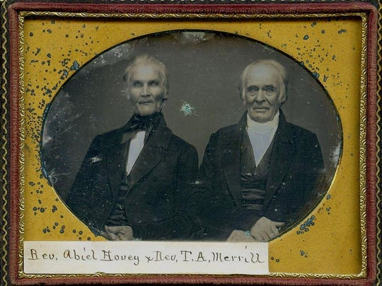 Two Reverends, c. 1845. Rev. Abiel Hovey and Rev. Thomas A. Merrill. From quarter-plate daguerreotype.