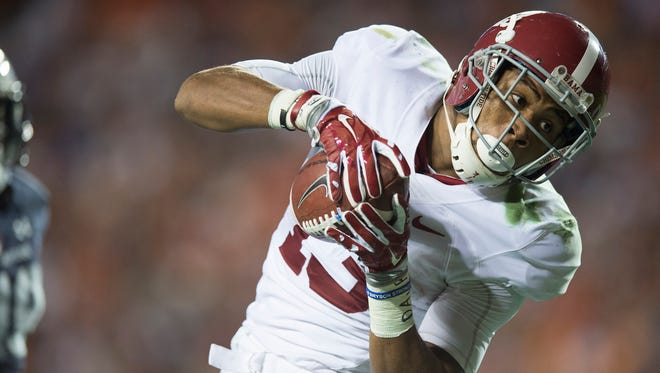 ArDarius Stewart and the top-ranked Alabama Crimson Tide will open the season Saturday against Southern Cal at AT&T Stadium in Arlington, Texas. Albert Cesare / Advertiser