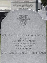 The grave of Gen. William Westmoreland, who commanded