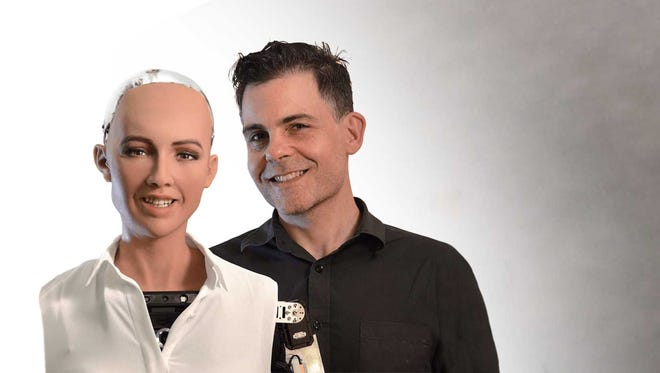 On February 28, 2018, DePauw University's Ubben Lecture Series will feature the world's first artificial intelligence-fueled android, Sophia, and her creator, David Hanson.
