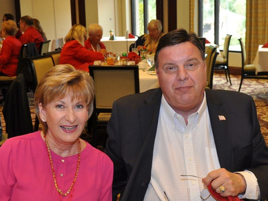Estero Council member Bill Ribble with wife Joanne at the Estero Historical Society Christmas luncheon Dec. 9.