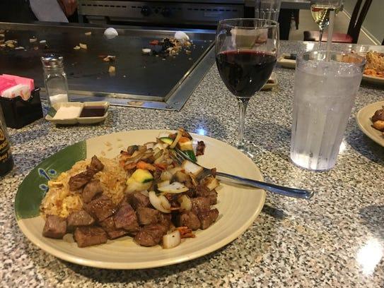The filet mignon at Asahi Japanese Steakhouse was tender