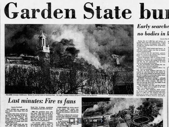 40 Years Ago Garden State Park Burns