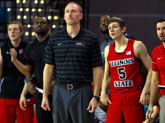 Illinois State Redbirds head coach Dan Muller