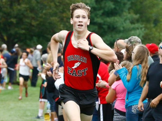 Wausau East's Axel Treinen placed seventh overall in the Division 1 race in Saturday's Smiley Invitational at Tribute Golf Course.
