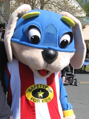 Safety Pup Sam will be at Sunspots Pavilion on Sunday, May 21 for National Police Week.