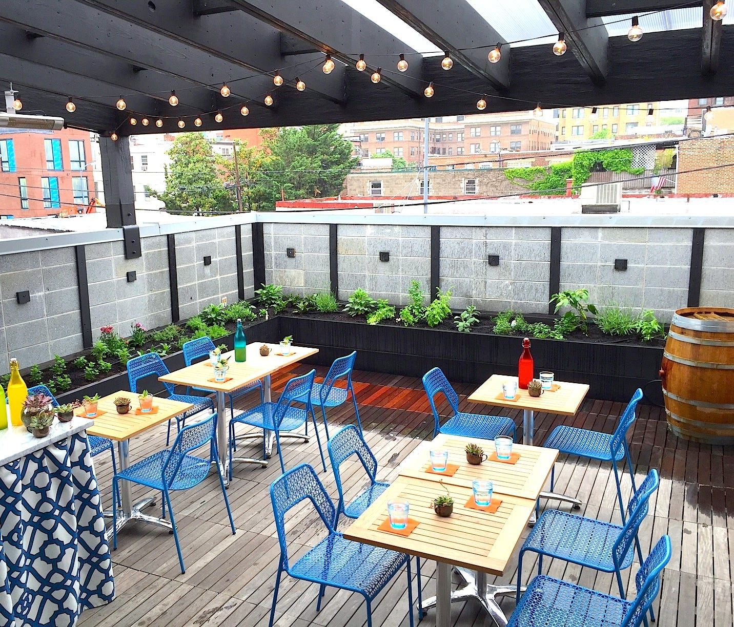 In Washington, D.C., Columbia Room cocktail bar hosts a Punch Garden on its roof deck.