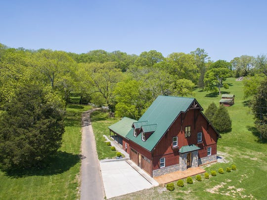 Drone view of the barn at 2060 Hillsboro Road. The property is on the market for $6 million.