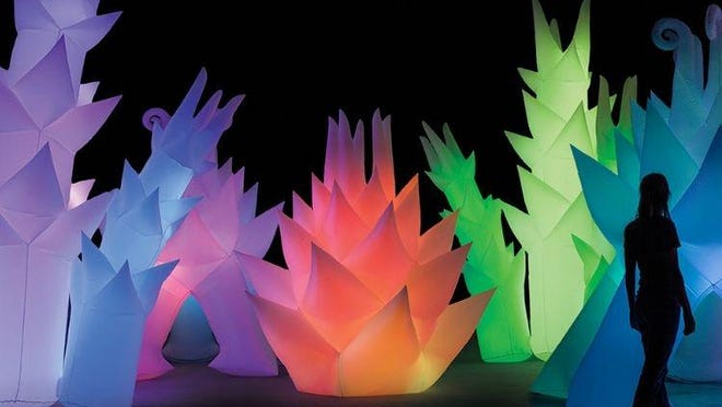 """An outdoor glowing garden is among the activities at the Toledo Museum of Art's """"Great Art Escape."""""""