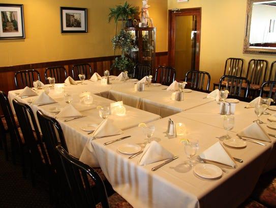 A cozy private room at La Tavola Cucina in South River.