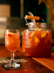"A Mimosa Sangria is offered at Jekyll as ""social shareable"