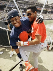 In this 1993 photo, Barry Larkin sports a custom-designed
