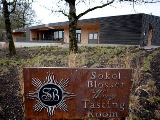 The recently built Sokol Blosser Winery, one of the Oregon wine founders, on Tuesday, February 3, 2015, in Dundee.