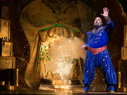 """James Monroe Iglehart, seen in the role of the Genie in the Broadway production of """"Aladdin."""" The show is part of the Broadway in Cincinnati 2017-2018 subscription series announced on Feb. 6."""