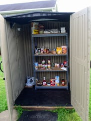 Allen Melius installed a food pantry in his front yard