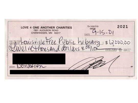 Prince donated $12,000 through his charity, Love 4