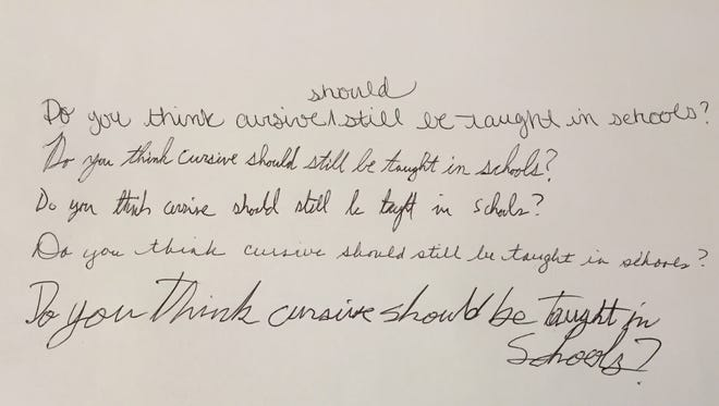 For a fifth time, Indiana's General Assembly is considering a measure that would reinstate cursive writing as part of the state's curriculum.