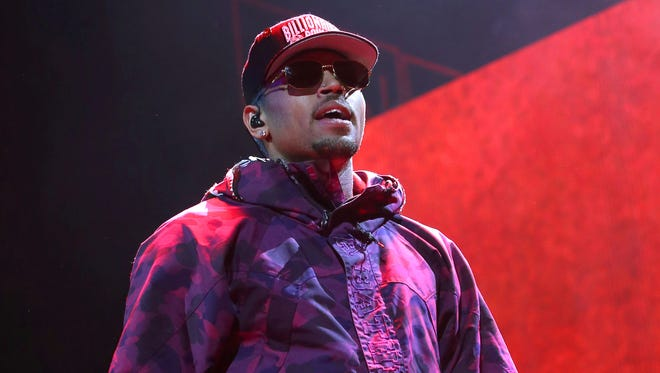 Chris Brown performs at the Barclays Center in New York.